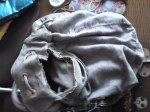 Bag with torn lining